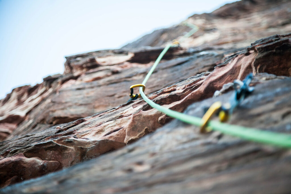 Rock climbing in Greece - bolts and rope