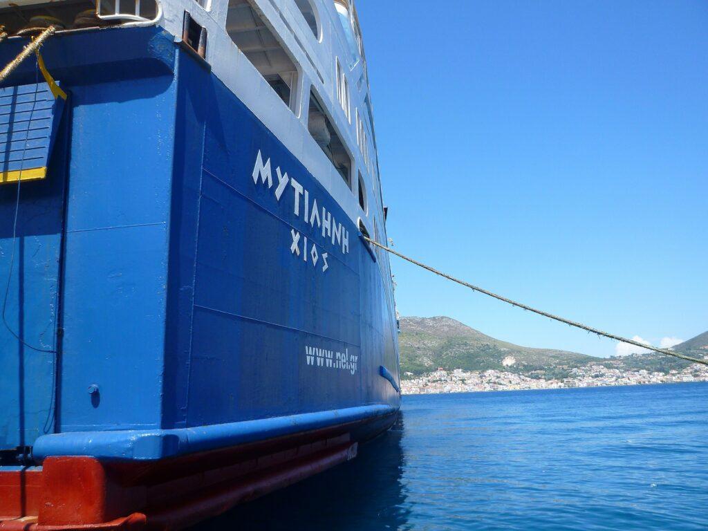Travel to Samos, Greece - ferry boat