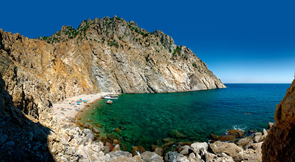 Samothraki beach in Samothrace, North Aegean Sea Greece