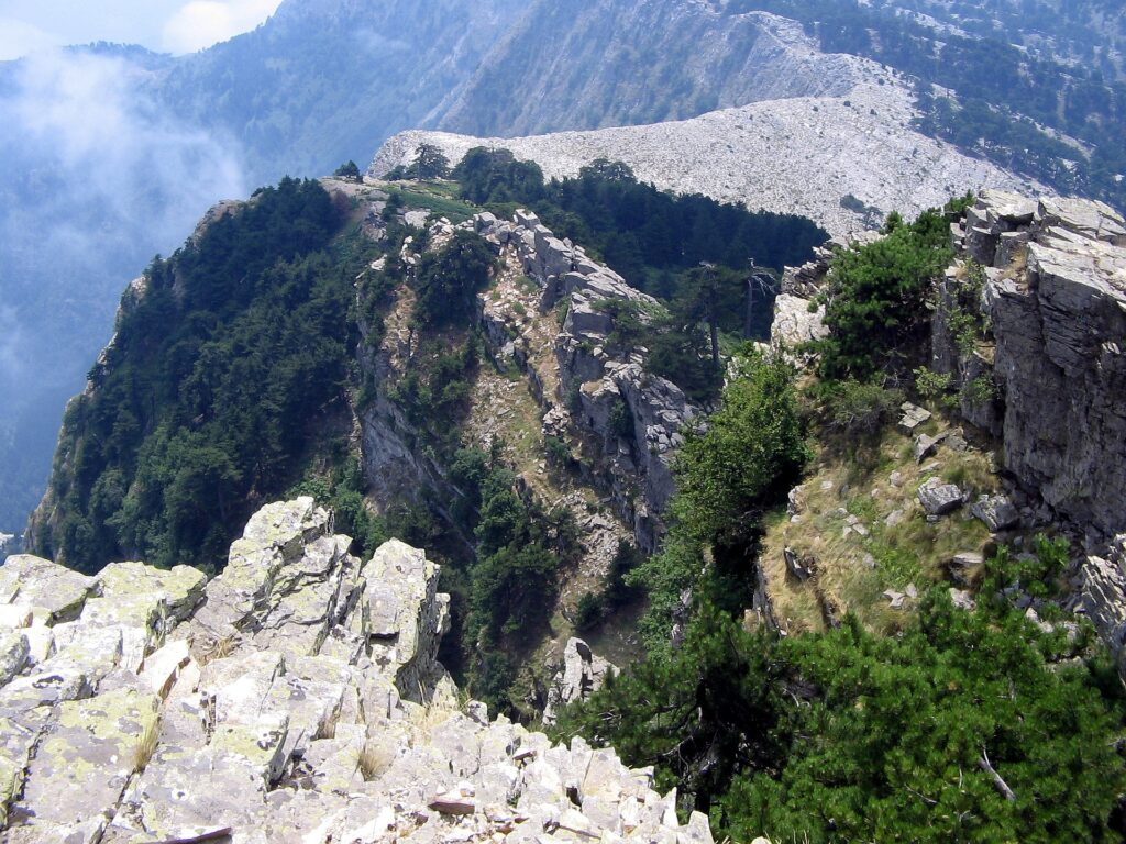 Travel to Thassos, Northern Aegean, Greece - the peak of Mount Ipsarion