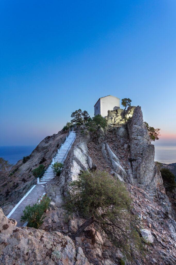 The church of Holy Mary Krimniotissa in Samothrace, North Aegean Sea Greece