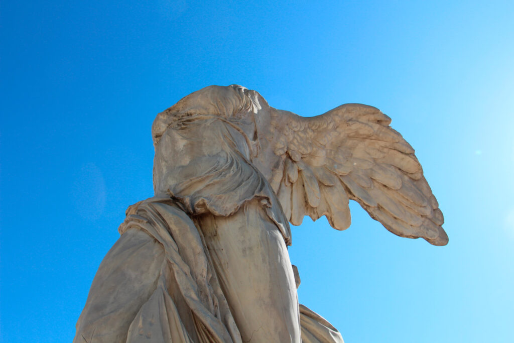 The Winged Victory of Samothrace in Samothrace, North Aegean Sea Greece