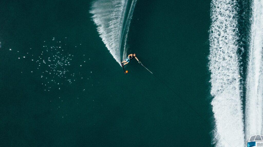 water ski in Greece - Drone view - Photo Ben Den Engelsen