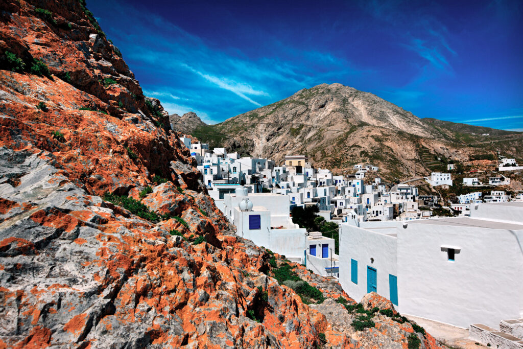 Ano Chora, the upper neighborhood of the capital, Serifos, Cyclades Greece