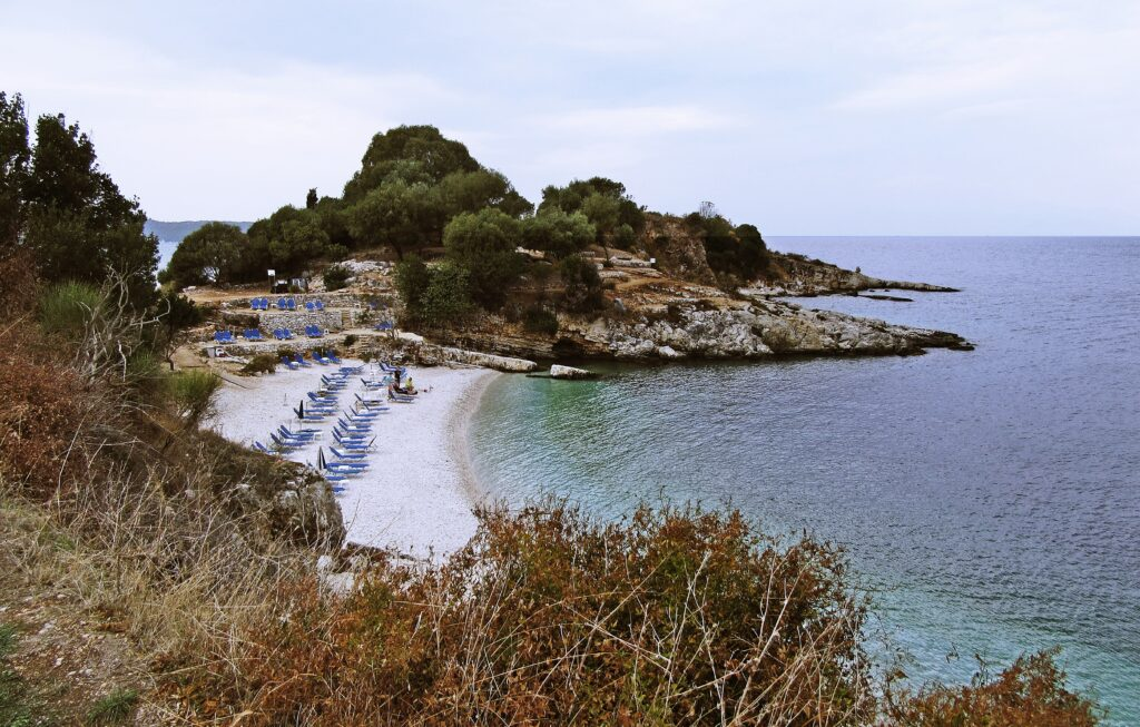 Travel to Corfu, Greece - Bataria beach, Kassiopi - Photo by Andrew Buchanan