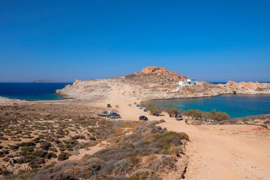 Agios Sostis beach, in the eastern side of Serifos, Cyclades islands, Greece