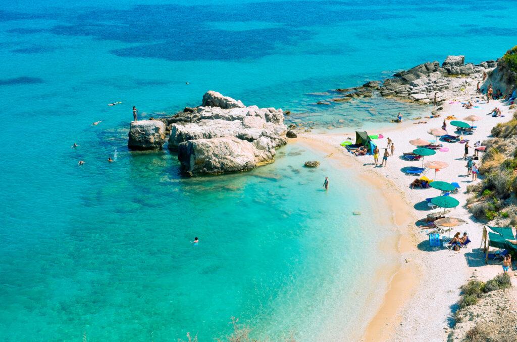 Beautiful beach in Zakynthos, Ionian islands Greece