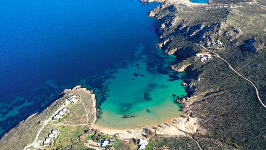 Psili Ammos beach in Serifos at spring, Cyclades, Greece
