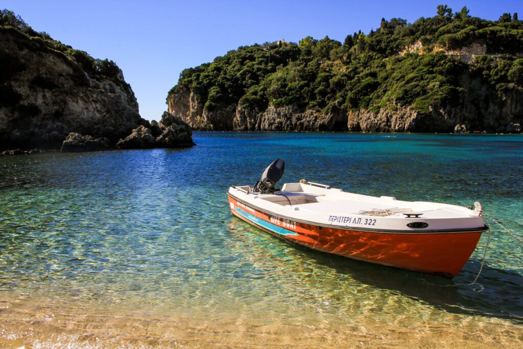 Travel to Corfu, Greece - beach in bay