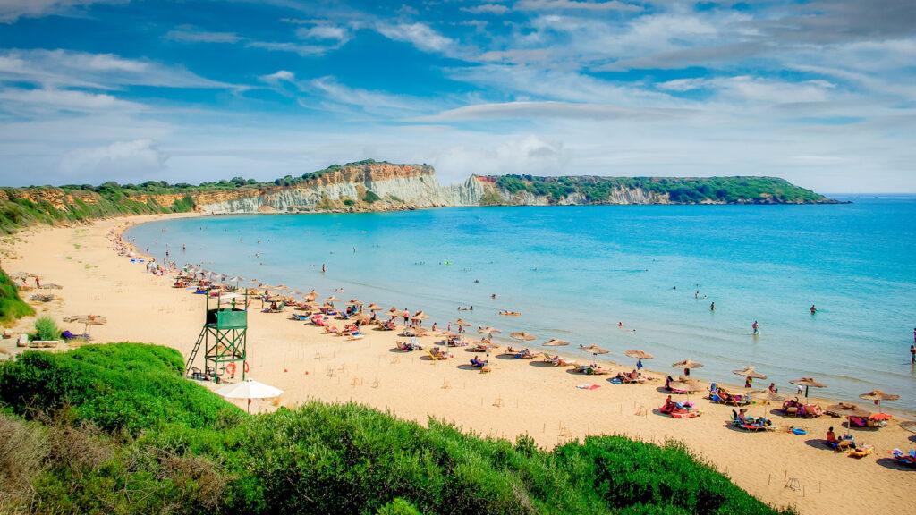 Gerakas beach in Zakynthos island, Ionian Sea Greece