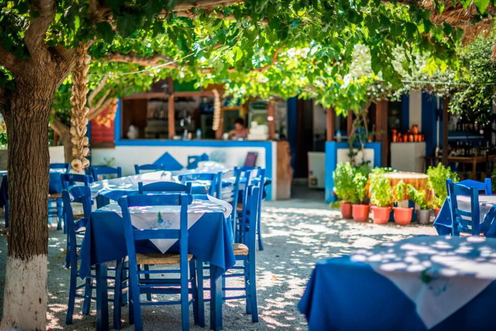 Traditional Greek tavern in Zakynthos, Ionian Islands Greece