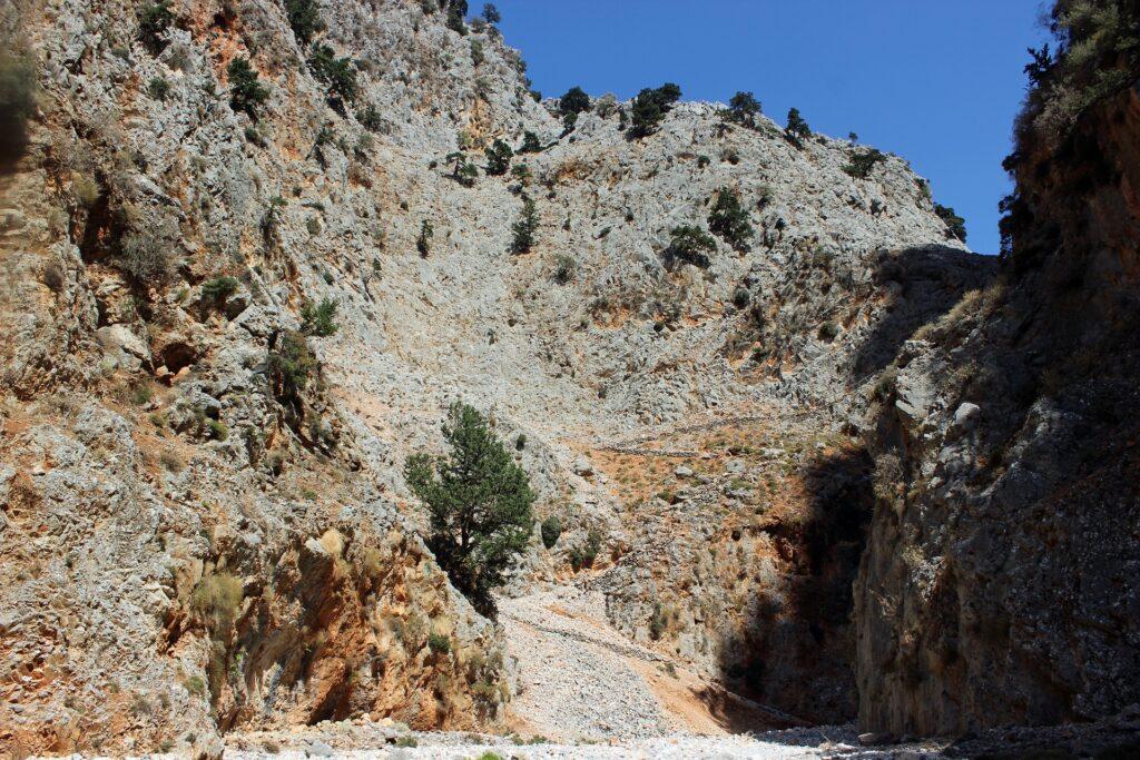 Trekking through Aradena Gorge, Crete, Greece