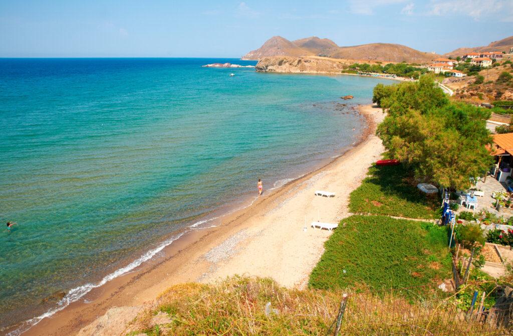 Kaspakas beach, Lemnos, North Aegean island Greece