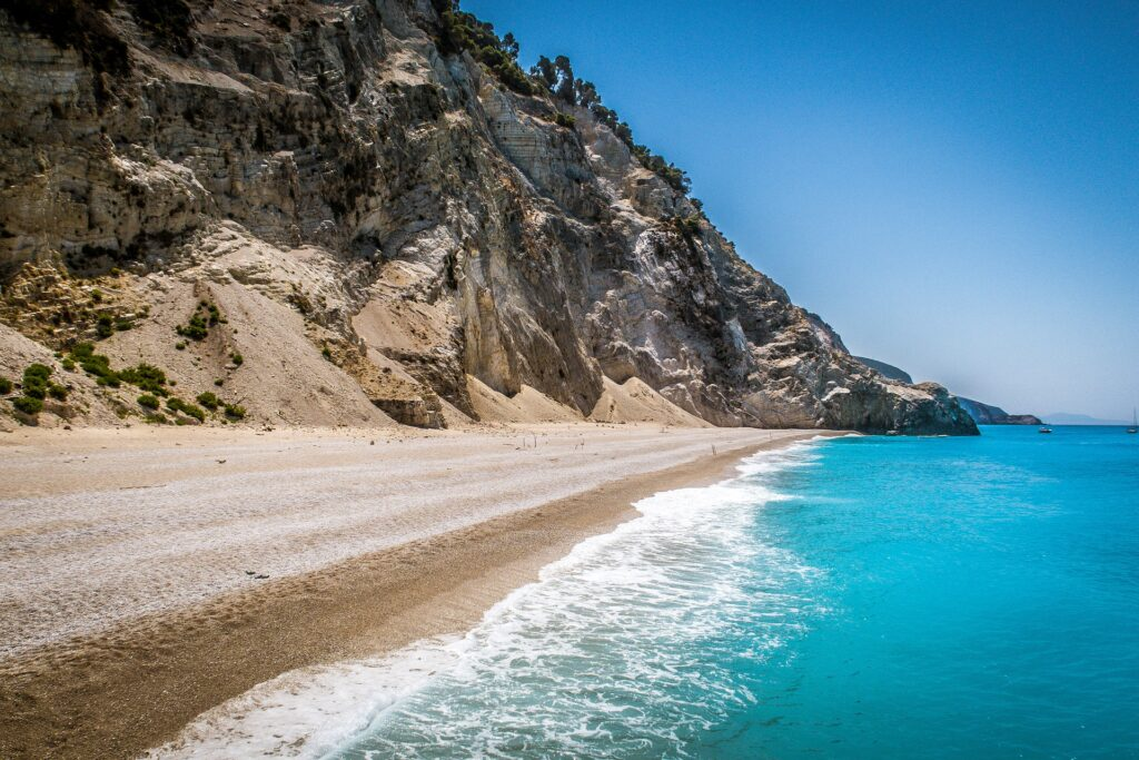 Travel to Lefkada, Greece - Egremni beach - photo by Guiseppe Dio