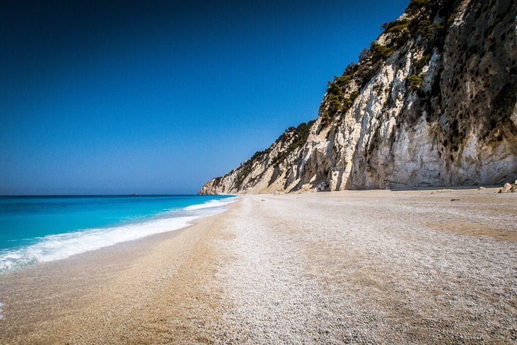 Travel to Lefkada, Greece - Egremni beach - photo by Guiseppe Dio