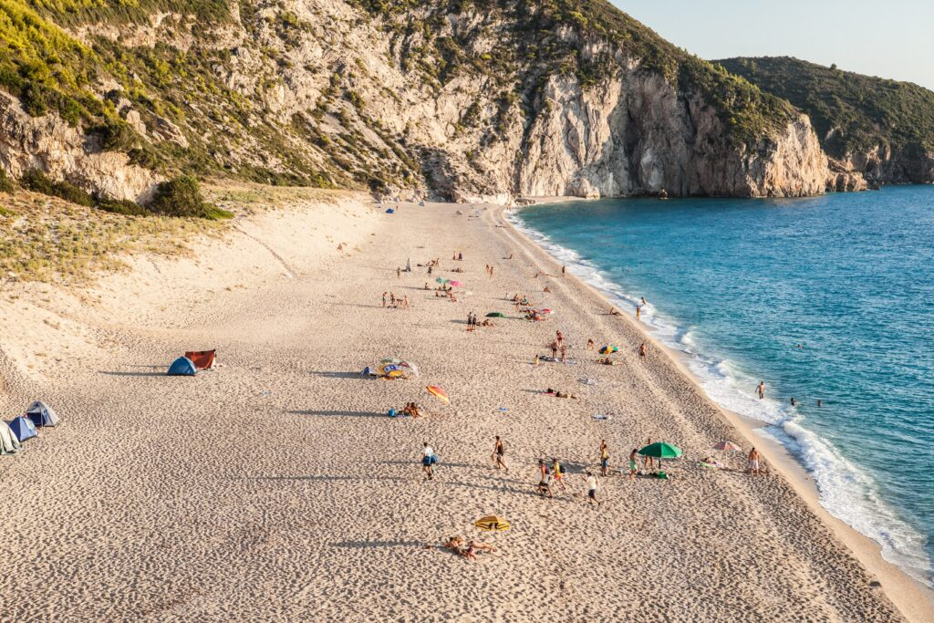 Travel to Lefkada, Greece - Milos beach - photo by Nemanja
