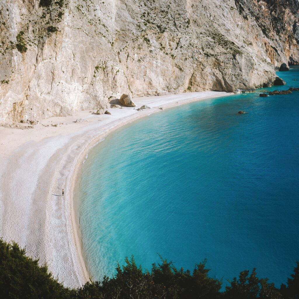 Travel to Lefkada, Greece - Porto Katsiki beach - photo by Valdemaras