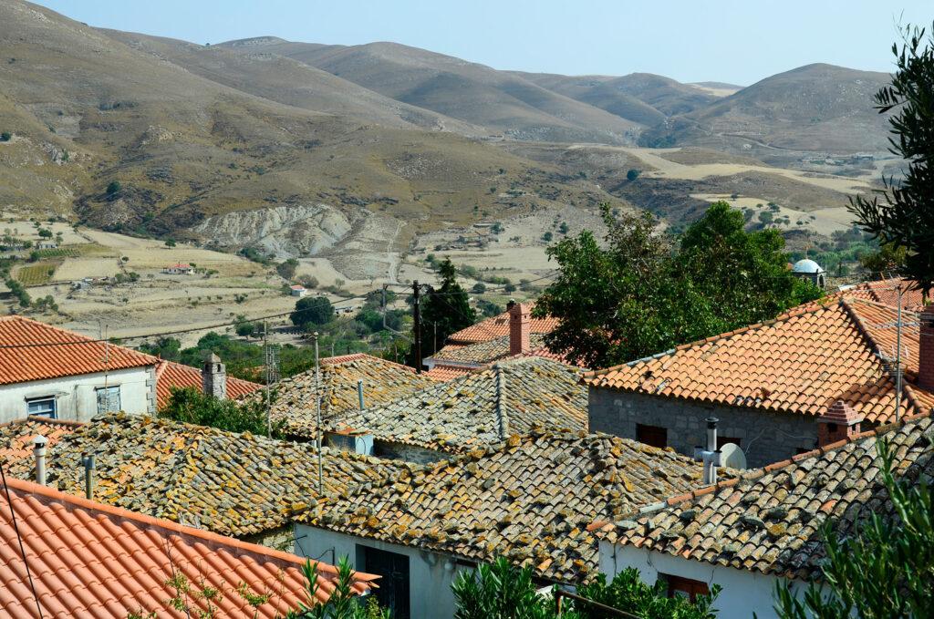 Mountain village Kaspakas, Lemnos island, North Aegean Greece