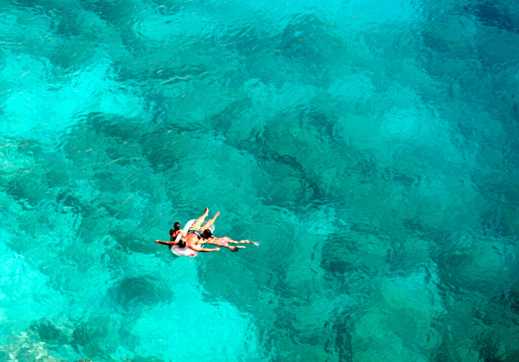 swimming in the sea of Lefkada, Ionian Sea Greece