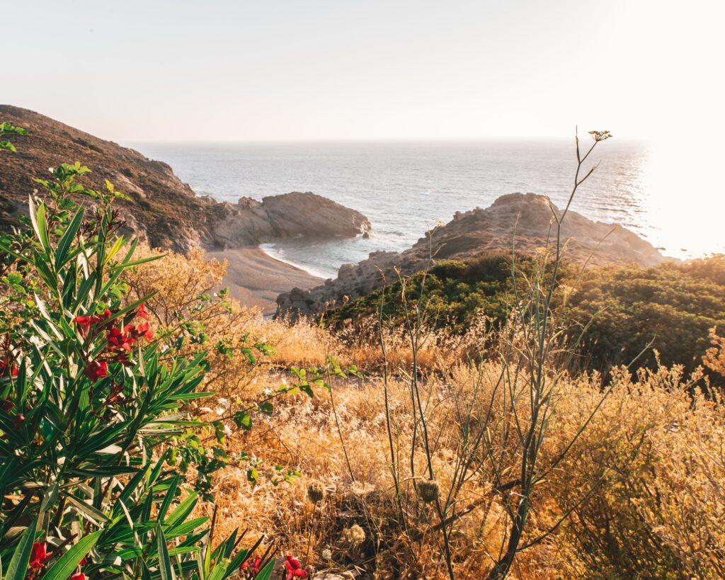 travel to Ikaria, Greece - view of coast - photo Christian Burri