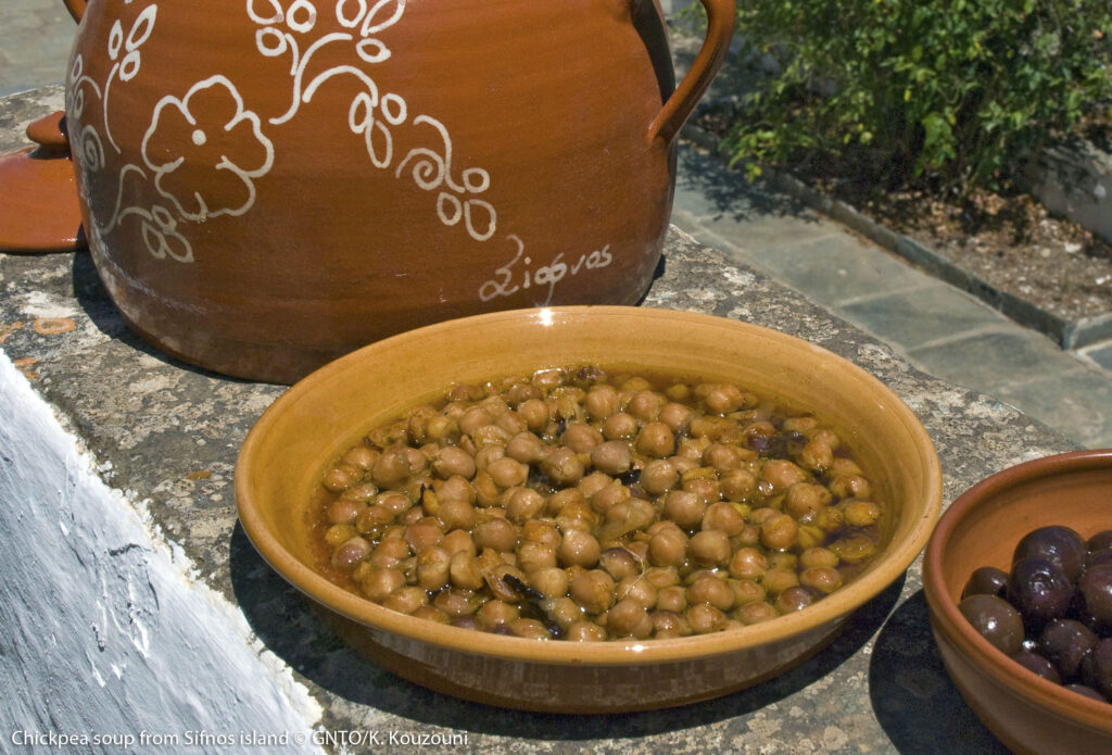 Sifnos Chickpea Soup - photo by K. Kouzouni