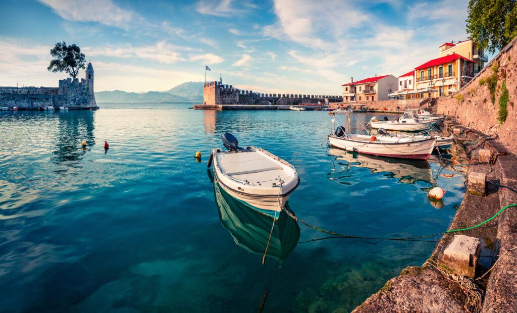 travel to Nafpaktos, Corinthian Gulf, Greece - Venetian Harbour