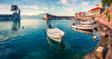 travel to Nafpaktos, Corinthian Gulf, Greece - Venetian Harbour