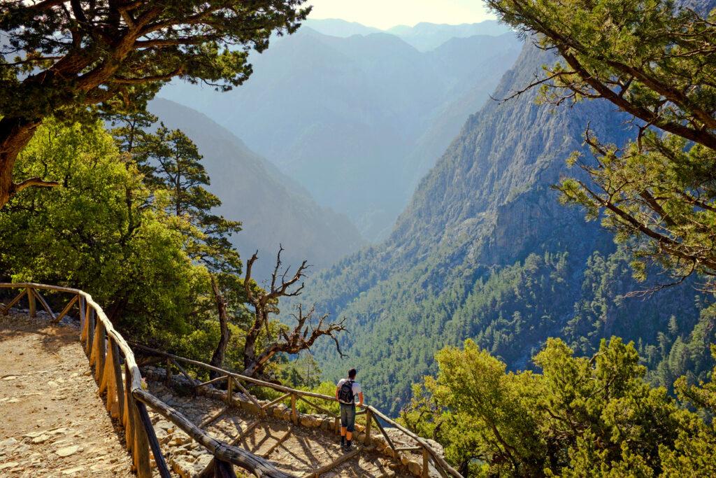 canyoning through Samaria Gorge in Crete, Greece