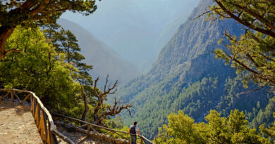 canyoning through Samaria Gorge in Crete, Greece