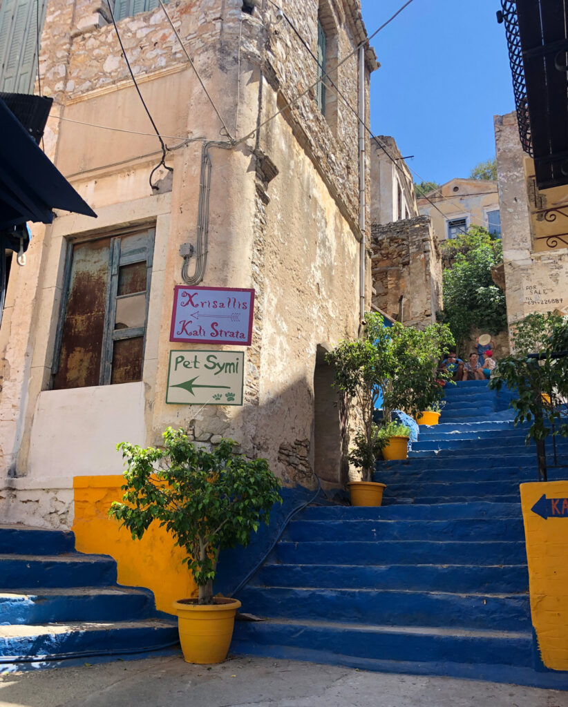 Travel to the Dodecanese, Greece - Stairs to Kali Strata, Symi Island