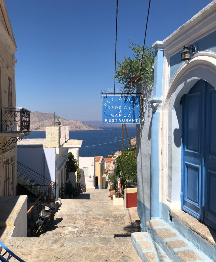 Travel to the Dodecanese, Greece - Restaurant in Kali Strata, Symi Island