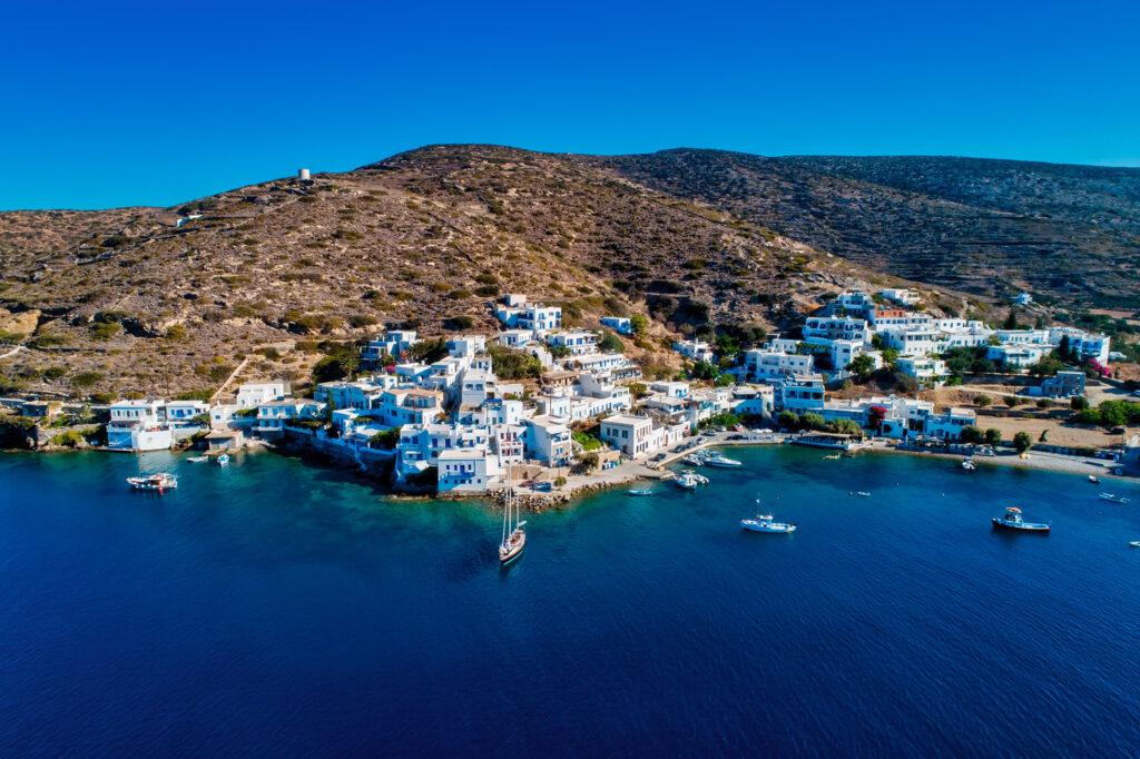Katapola vilage and port, Amorgos island Cyclades Greece
