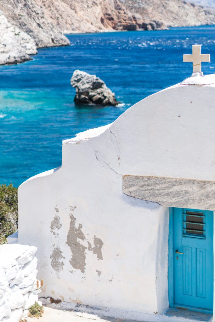 Travel to Amorgos, Greece - Agia Anna beach and chapel - Photo Giannis Panagiotatos