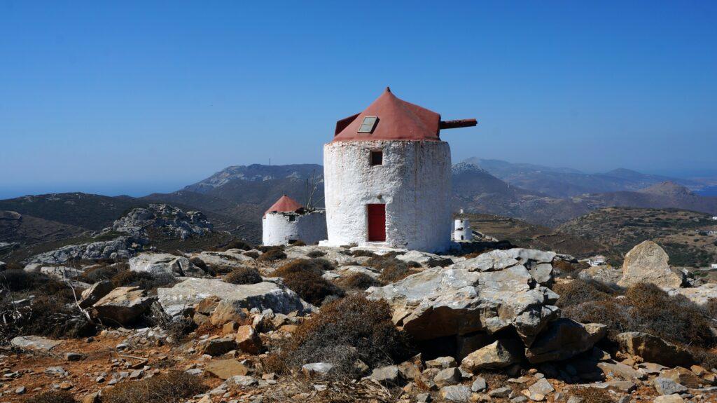 Travel to Amorgos, Greece - Old windmills - Photo Monique Stokman