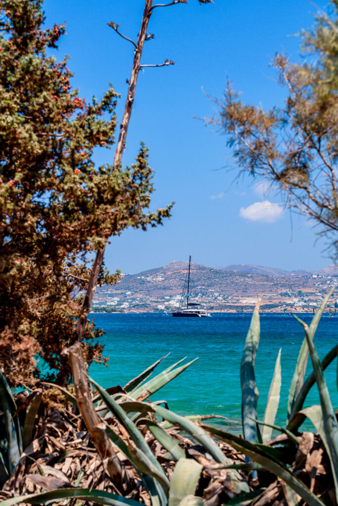 View of the sea in Antiparos island, Cyclades Greece