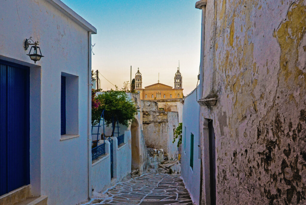 Alley in Paros Cyclades Greece - Photo Clement Souchet