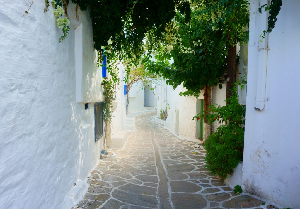 Alley in Paros Cyclades Greece - Photo Daria Nepriakhina