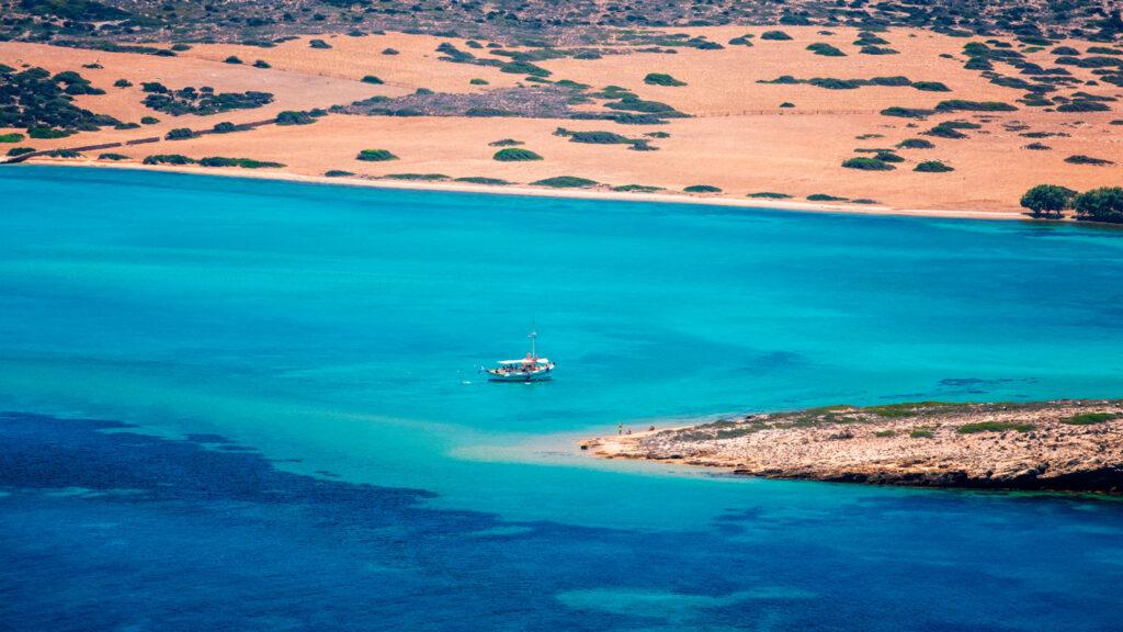 Sailing around Antiparos, Cyclades, Greece