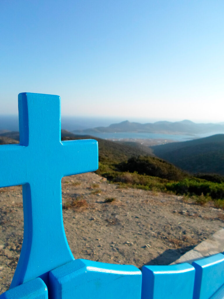 View from the highest point in Antiparos, Cyclades, Greece
