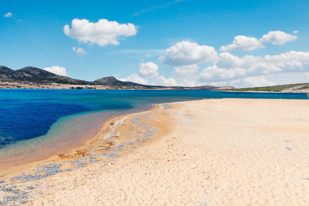 Vathis Volos beach, Antiparos island, Cyclades, Greece