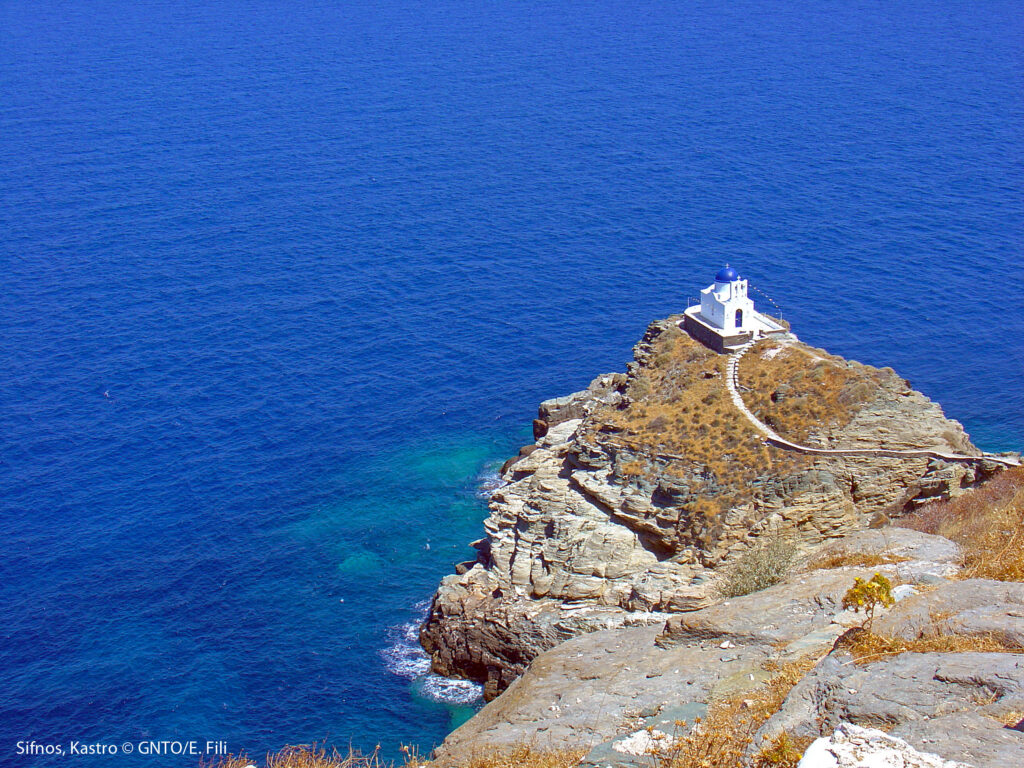 Travel to Sifnos - Kastro Eftamartyros - photo GNTO/E. Fili