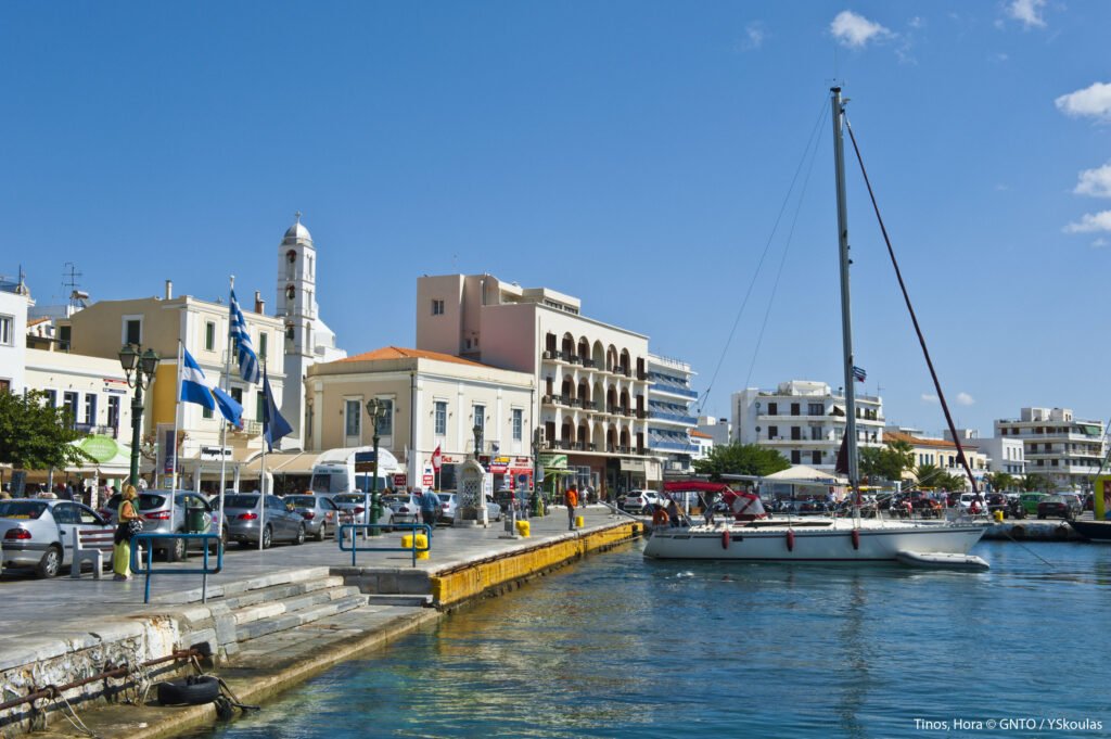 Travel to Tinos, Cyclades, Greece - Harbour - Photo by Y. Skoulas