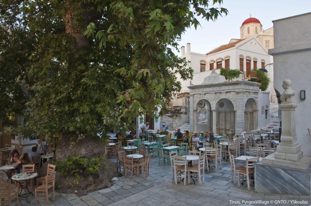 Travel to Tinos, Cyclades, Greece - Pyrgos village - Photo by Y. Skoulas