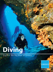 E-book travel guide Diving in Greece
