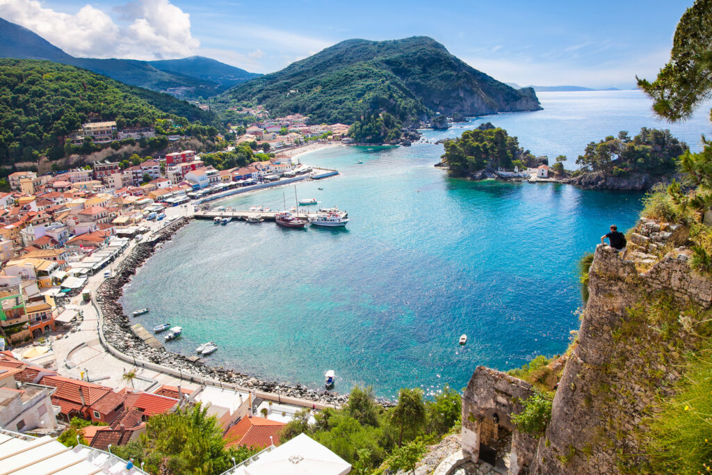 Beautiful panoramic view of Parga port, Preveza Greece