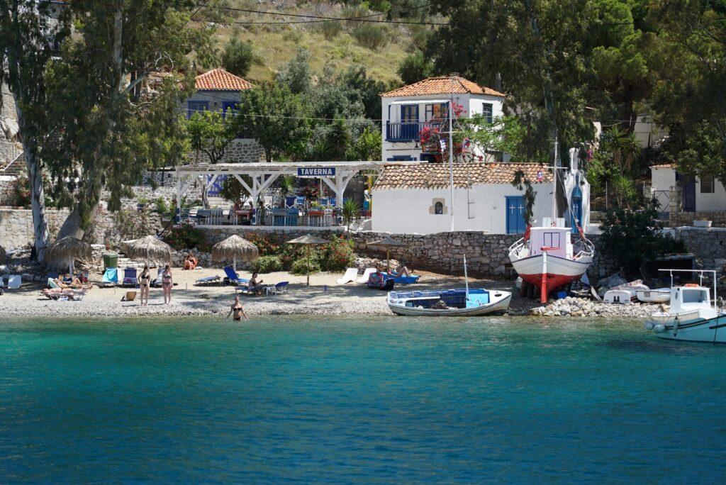 Hydra beach, Argo Saronic Gulf, Greece