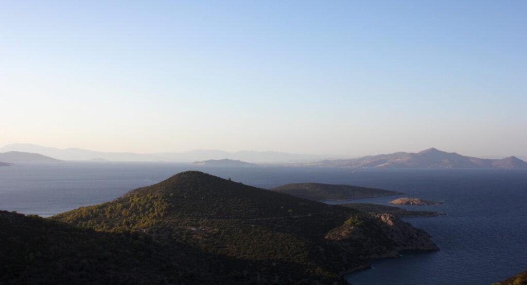 Mountains of Poros island, Saronic Gulf, Greece