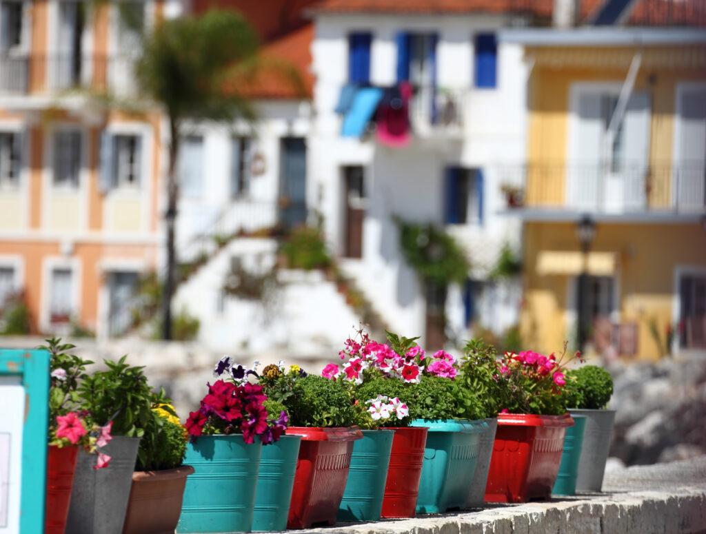 Parga town, Mediterranean tourist resort in Epirus Greece