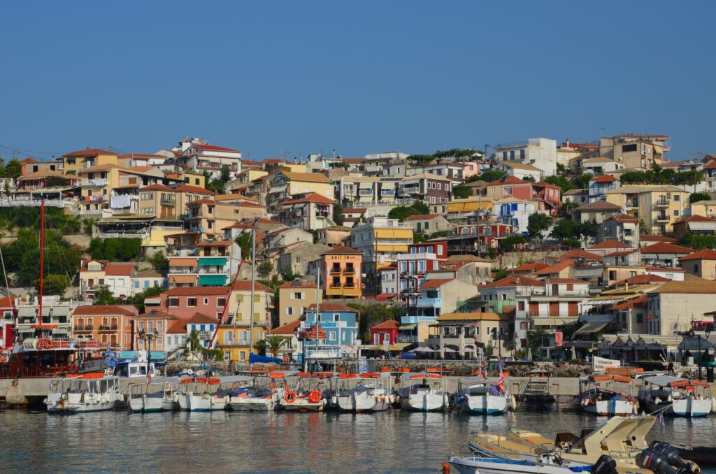 Parga, Preveza, Greece - View of Parga from the sea - photo by Eartner