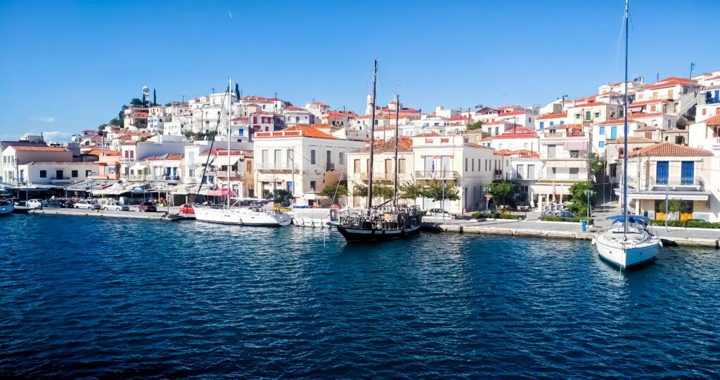 Poros port, Poros island, Saronic Gulf, Greece